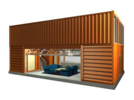 Con tech containertechnologie austria for Holzcontainer haus
